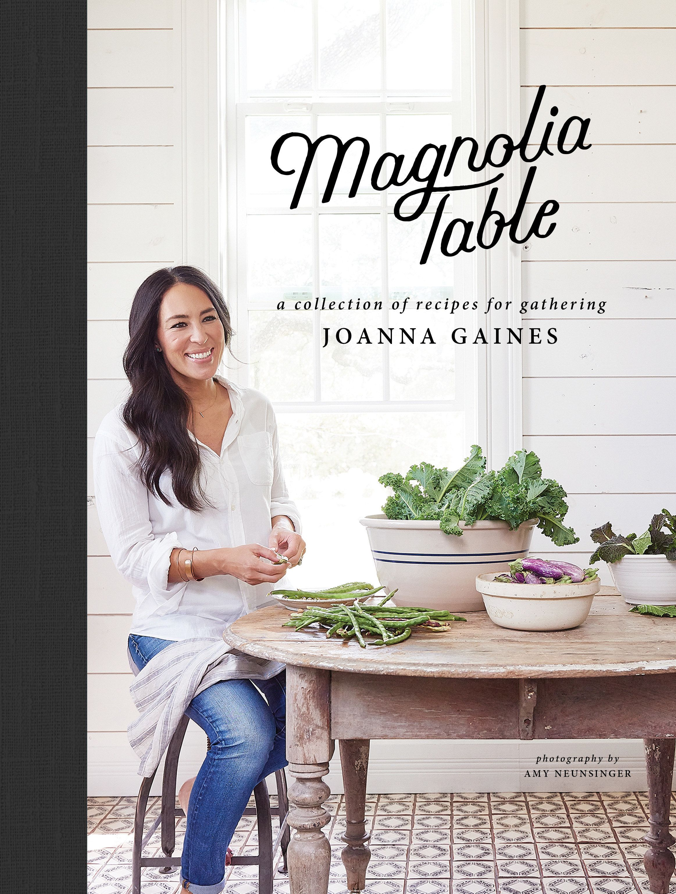 "The cover of Joanna Gaines' new book, <i><a href=""https://www.amazon.com/Magnolia-Table-Collection-Recipes-Gathering/dp/006282015X/ref=sr_1_1?ie=UTF8&qid=1524703577&sr=8-1&keywords=magnolia+table"" target=""_blank"">Magnolia Table</a></i>."