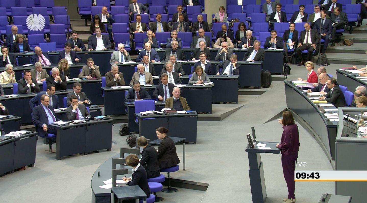 Göring-Eckardt wütet im Bundestag gegen Israel-Aussagen der