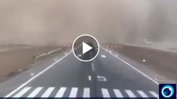 Εφιαλτική προσγείωση εν μέσω αμμοθύελλας σε αεροδρόμιο της Σαουδικής