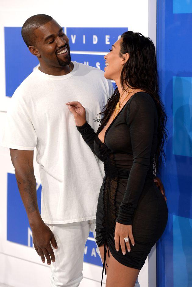 Kim and Kanye at the VMAs in 2016