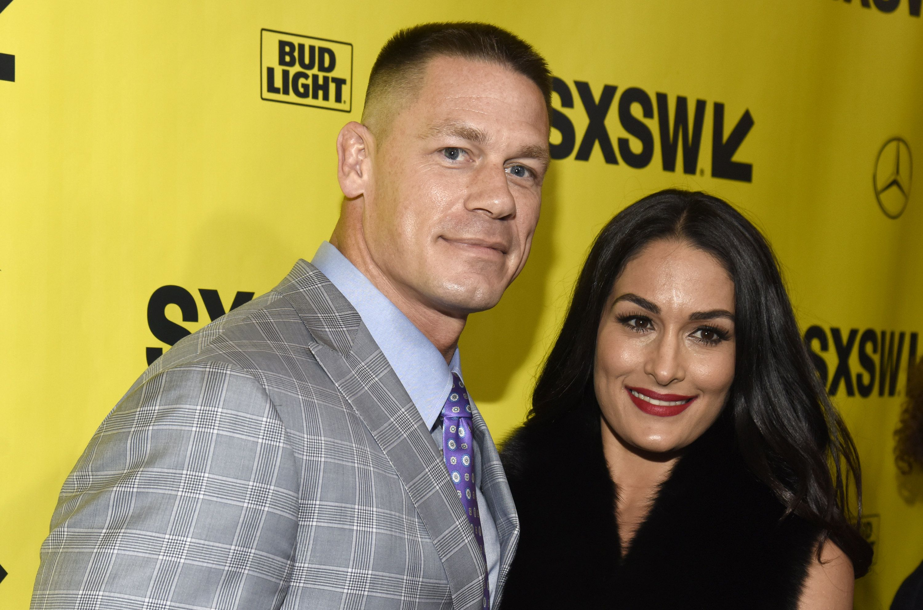 AUSTIN, TX - MARCH 10:  John Cena and Nikki Bella attend the 'Blockers' Premiere at the Paramount Theatre on March 10, 2018 in Austin, Texas.  (Photo by Tim Mosenfelder/Getty Images)
