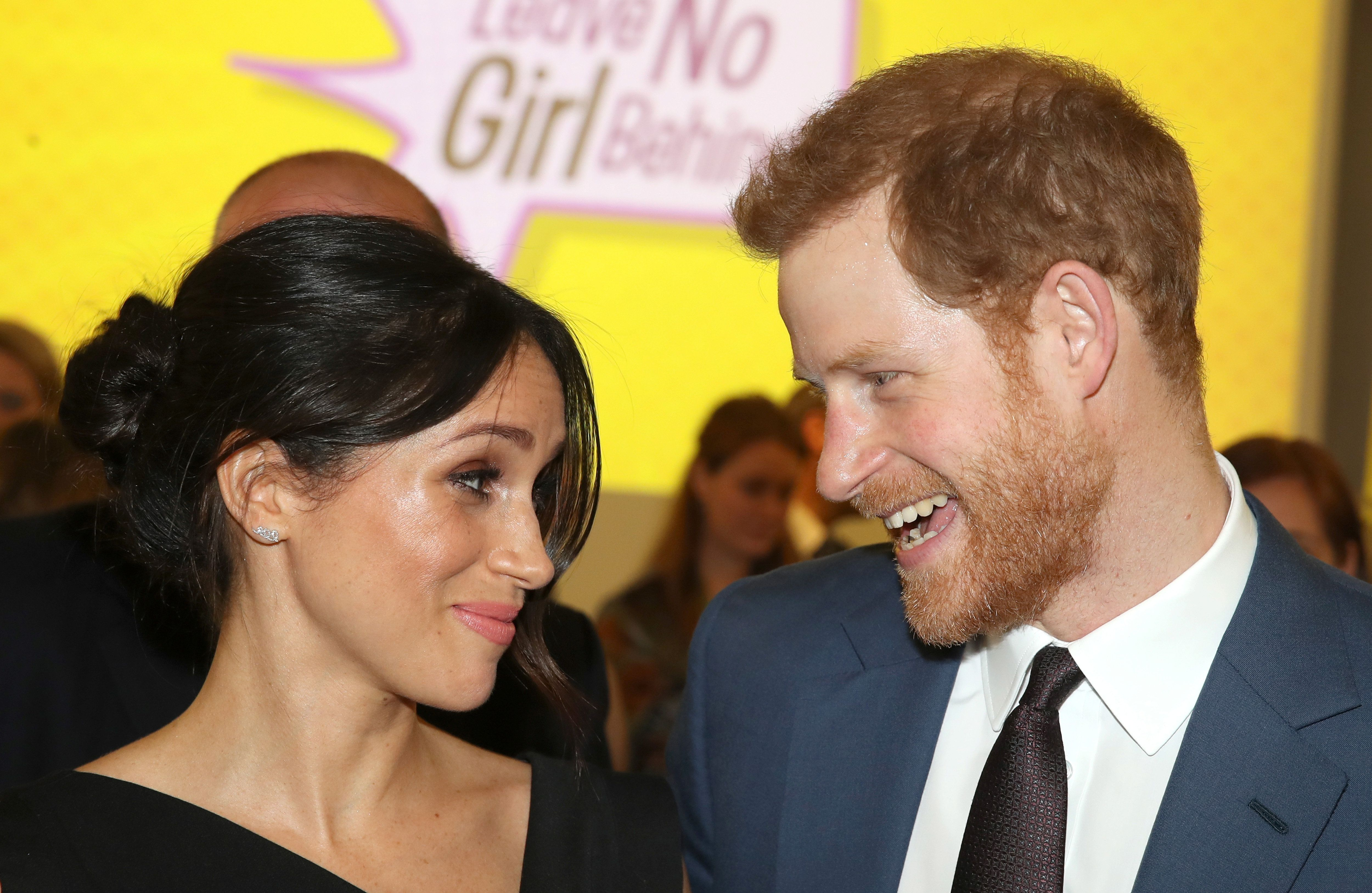 Meghan Markle and Prince Harry attend the Women's Empowerment reception hosted by Foreign Secretary Boris Johnson during the Commonwealth Heads of Government Meeting at the Royal Aeronautical Society on April 19, 2018 in London, England. Chris Jackson/Pool via Reuters