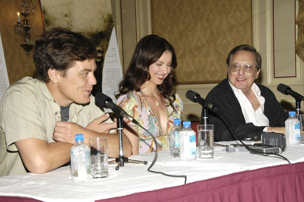 "Michael Shannon, Ashley Judd and William Friedkin at a ""Bug"" press conference in 2006."