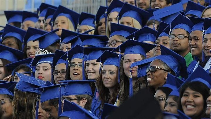 Graduates of Santa Monica College. Santa Monica is one of a handful of California two-year colleges piloting four-year degree