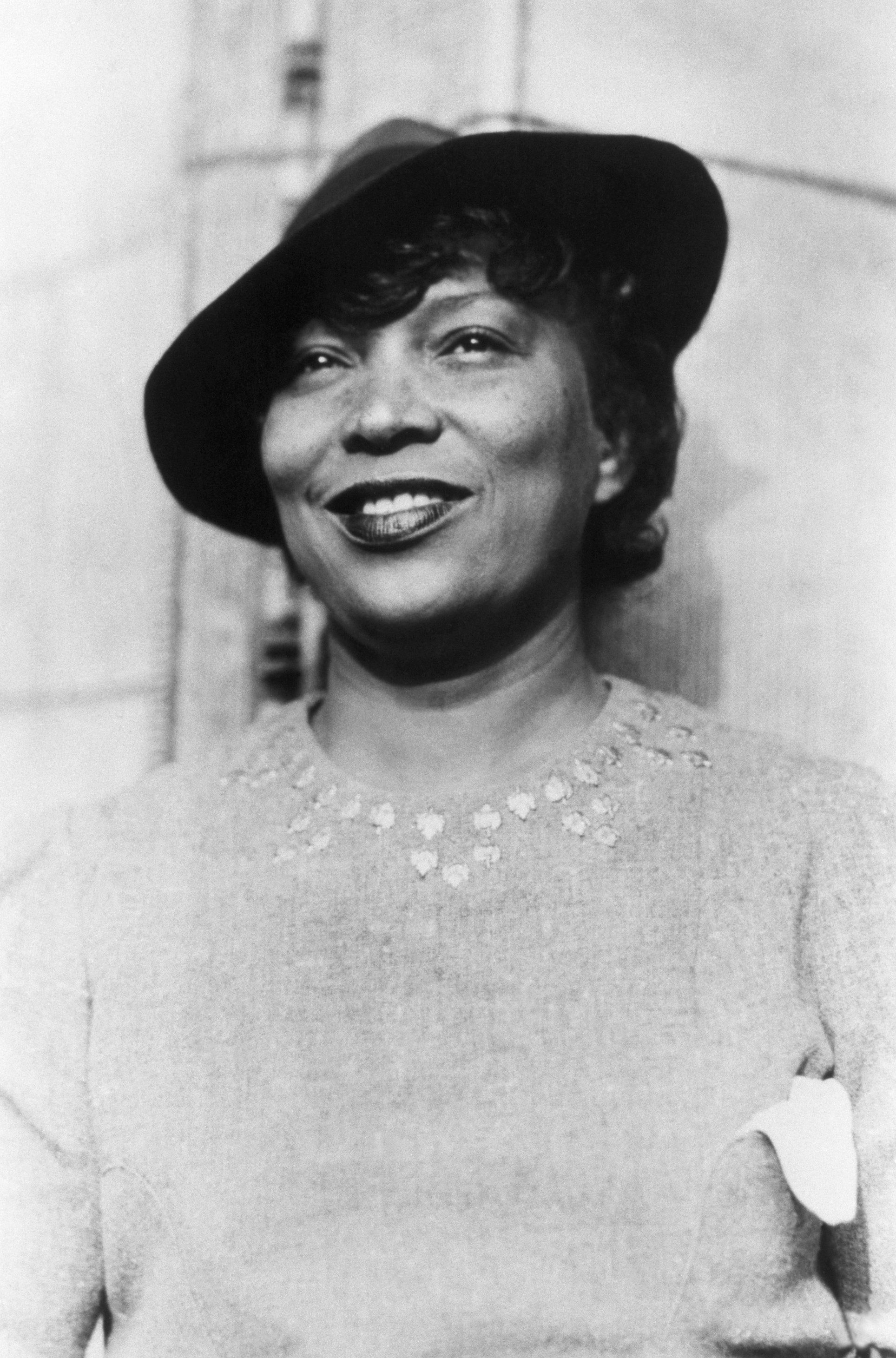 Zora Neale Hurston (1903-1960) studied anthropology under scholar Franz Boas. She wrote several novels, drawing heavily on her knowledge of human development and the African American experience in America. She is best known for Their Eyes Were Watching God. (Photo by © CORBIS/Corbis via Getty Images)