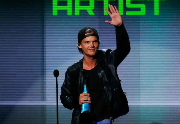 Avicii accepts the Favorite Electronic Dance Music Artist award at the 41st American Music Awards in...