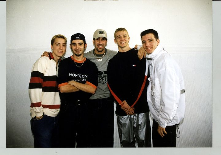 The fresh-faced members of *NSYNC pose in Germany in 1996.