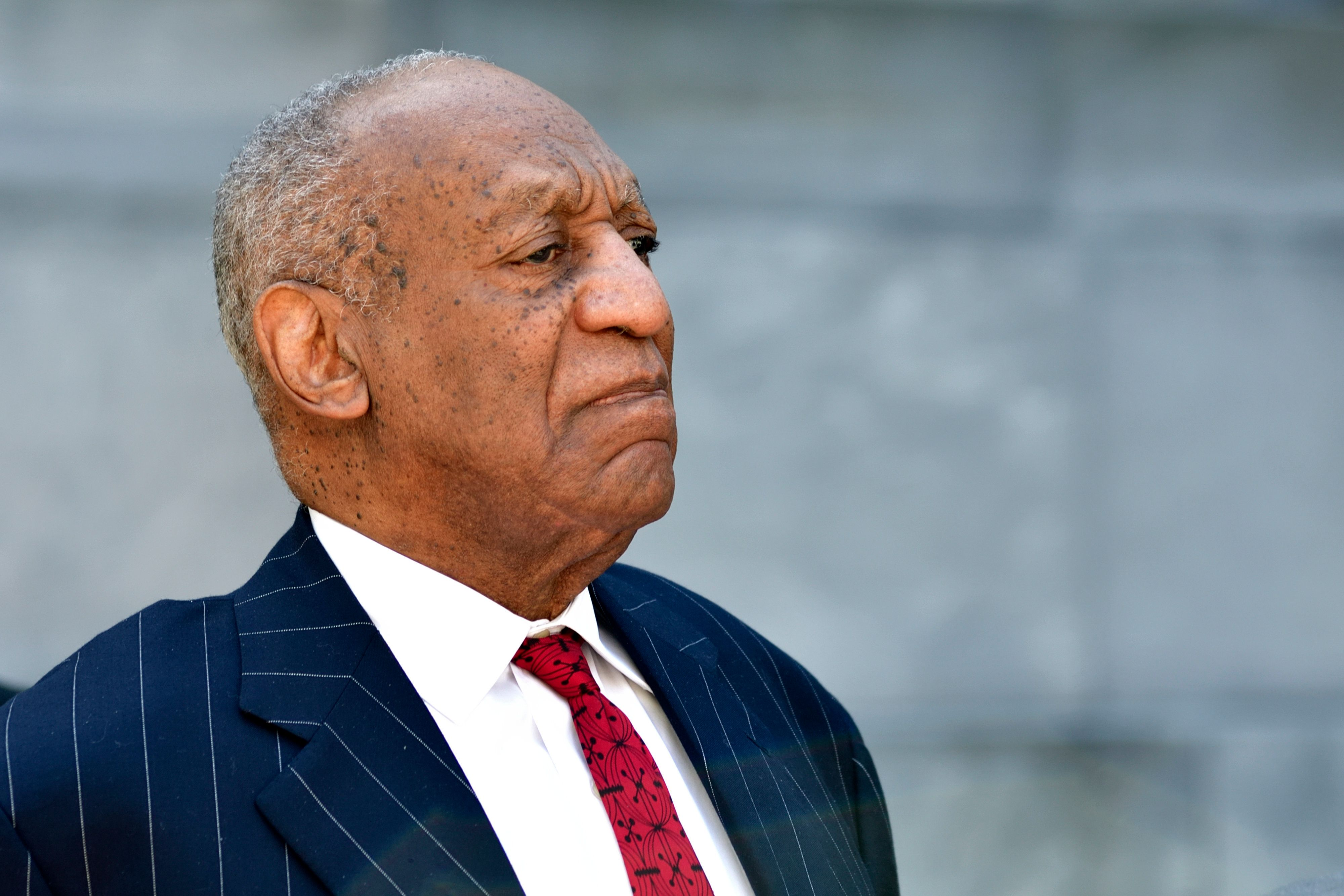 Bill Cosby departs after day 10 of the sexual assault trial of the 80 year old comedian and actor at Montgomery County Court House in Norristown, PA, on April 20, 2018. (Photo by Bastiaan Slabbers/NurPhoto via Getty Images)