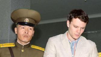 Otto Warmbier is led to his trial in North Korea in 2016