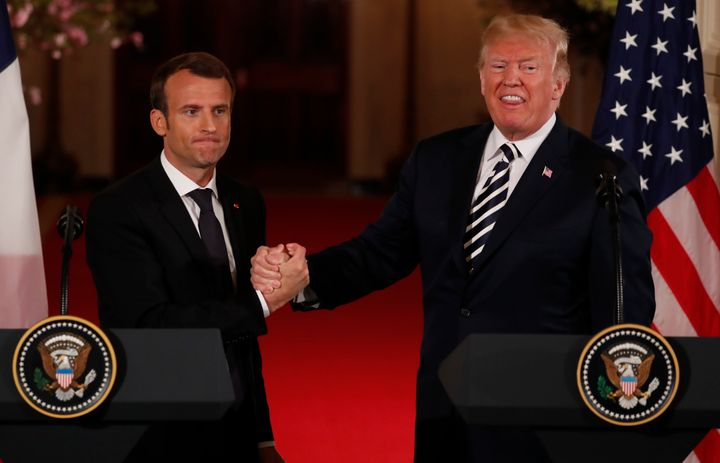 French President Emmanuel Macrontried to persuade U.S. President Donald Trump to remain in the Irannuclear agreem