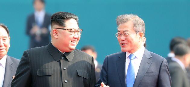김정은 위원장은 '평양냉면을 가져왔다'는 걸 강조하고