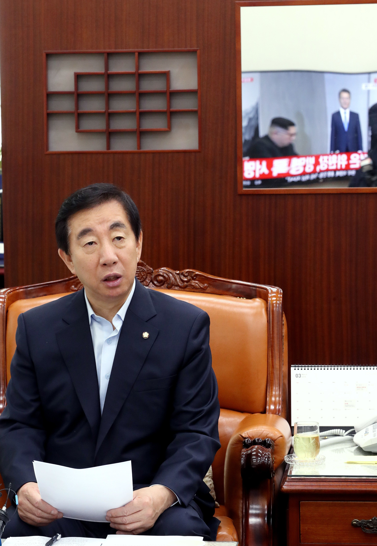 김성태가 '남북 정상회담'을 지켜보고 내린 평가