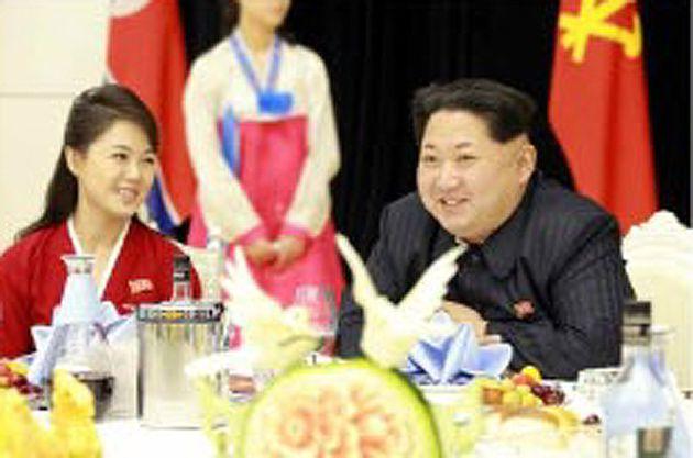 김정은 북한 국무위원장 부인 리설주 여사도 환영 만찬에