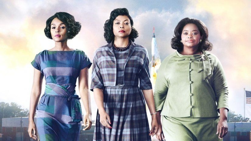 Janelle with her'Hidden Figures co-stars Taraji P. Henson and Octavia Spencer