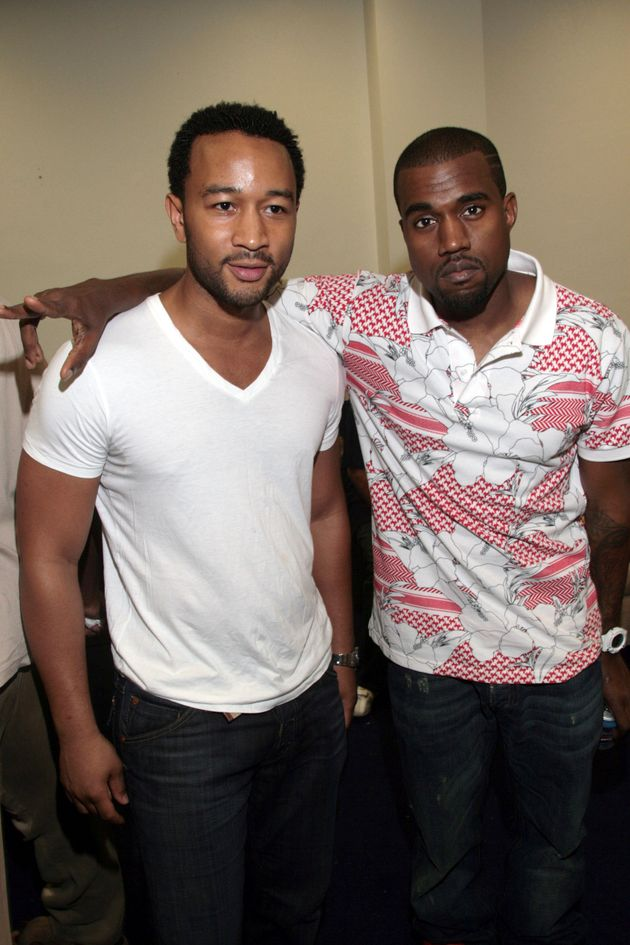 John and Kanye at a Grammys party in