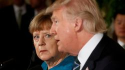 Après Macron, Trump reçoit Merkel, faste et embrassades en