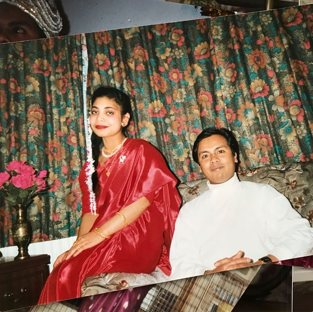 Tahmina Begum's mother Forhana with her fatherin