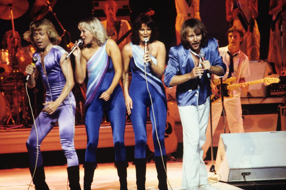 ABBA performing in 1979 at the height of their international