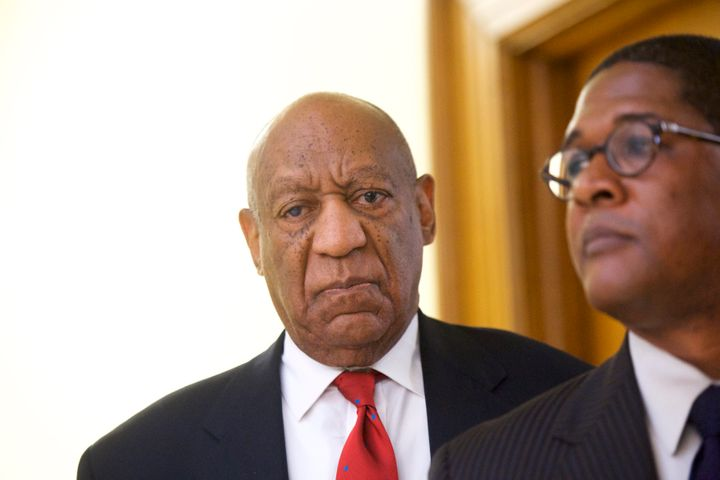 Bill Cosby after his conviction on three counts ofaggravated indecent assault in Norristown, Pennsylvania, on Thursday.