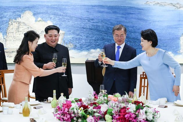 Die beiden koreanischen Staatschefsund
