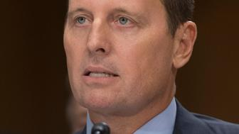 Richard Grenell, nominee to be US ambassador to Germany, testifies during a Senate Foreign Relations Committee hearing on Capitol Hill in Washington, DC, September 27, 2017. / AFP PHOTO / SAUL LOEB        (Photo credit should read SAUL LOEB/AFP/Getty Images)
