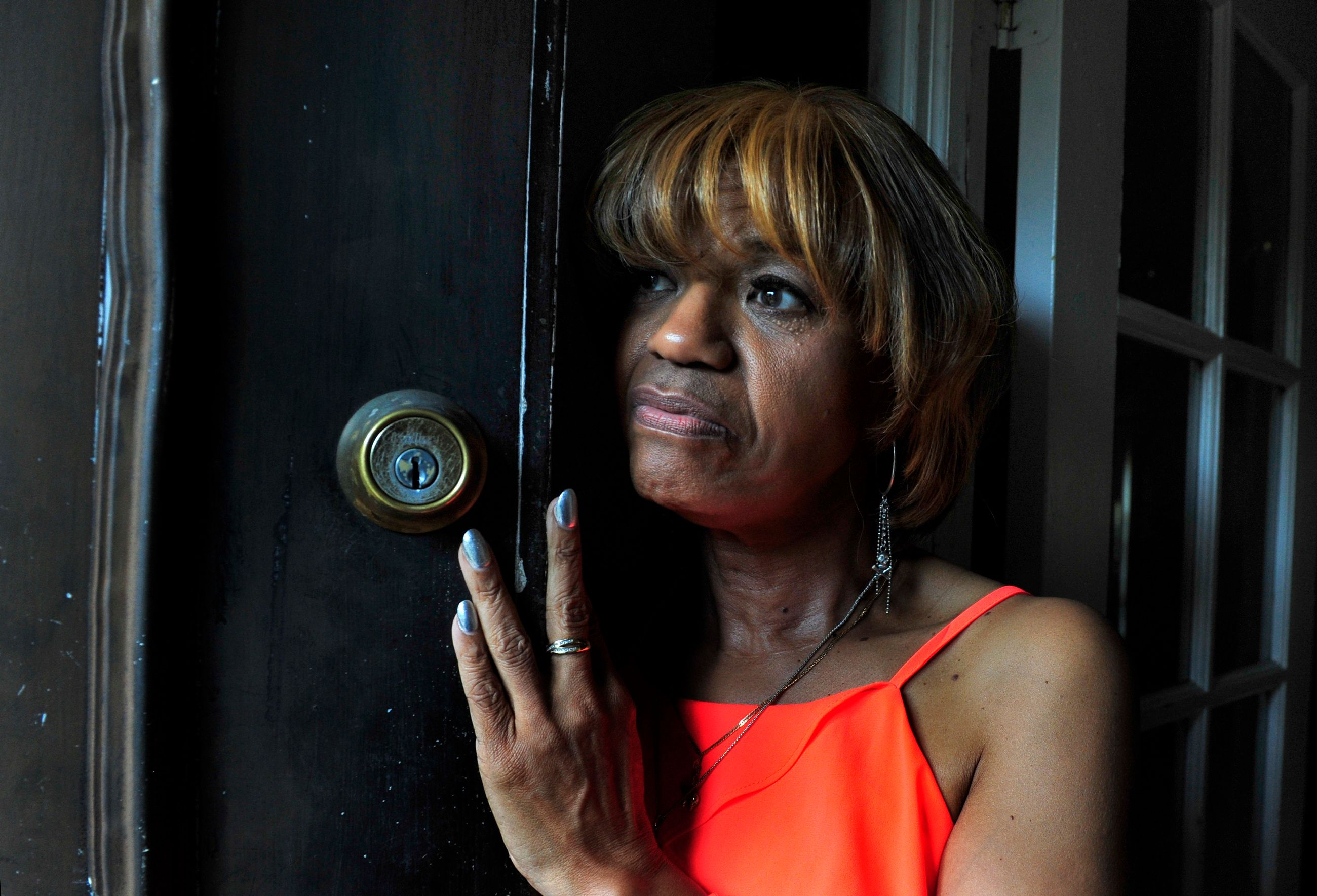 Lola Holten has lived in Detroit for 40 years. Her neighborhood has many abandoned, boarded-up homes and her own home is