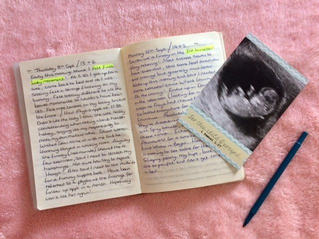 Becky Connolly started her pregnancy journal from the moment she found out she was expecting.