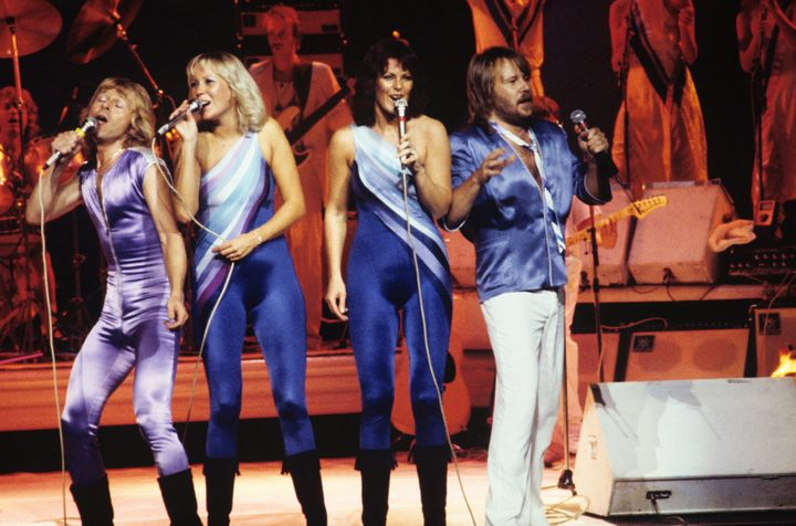 ABBA performs at Radio City Music Hall in 1979.