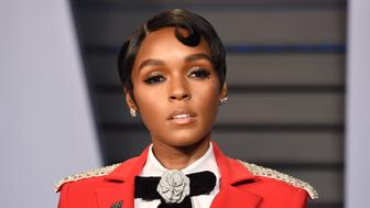 BEVERLY HILLS, CA - MARCH 4: Janelle Monae attends 2018 Vanity Fair Oscar Party Hosted By Radhika Jones - Arrivals at Wallis Annenberg Center for the Performing Arts on March 4, 2018 in Beverly Hills, CA. (Photo by Presley Ann/Patrick McMullan via Getty Images) *** Local Caption *** Janelle Monae