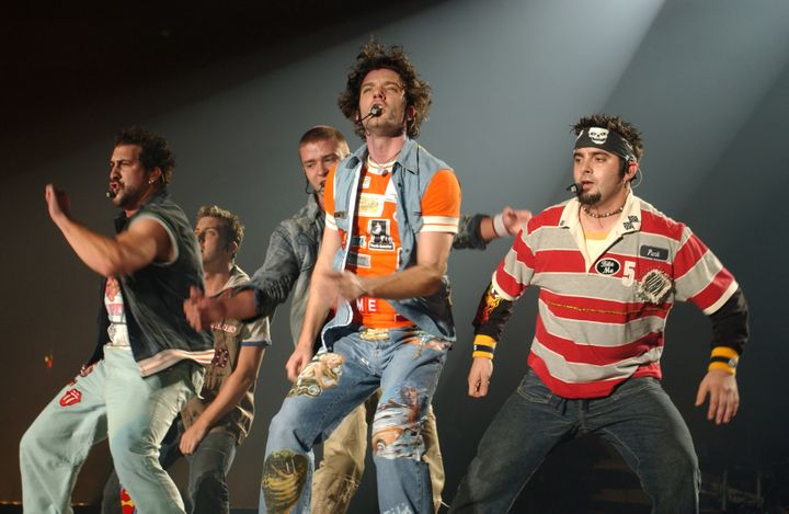 *NSYNC, in even more iconic looks, performedin Anaheim, California, in 2002.