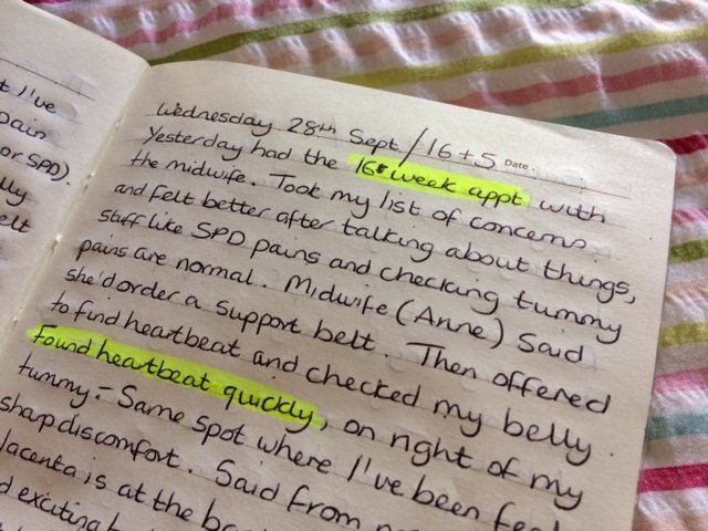 An extract from Becky Connolly's pregnancy diary.