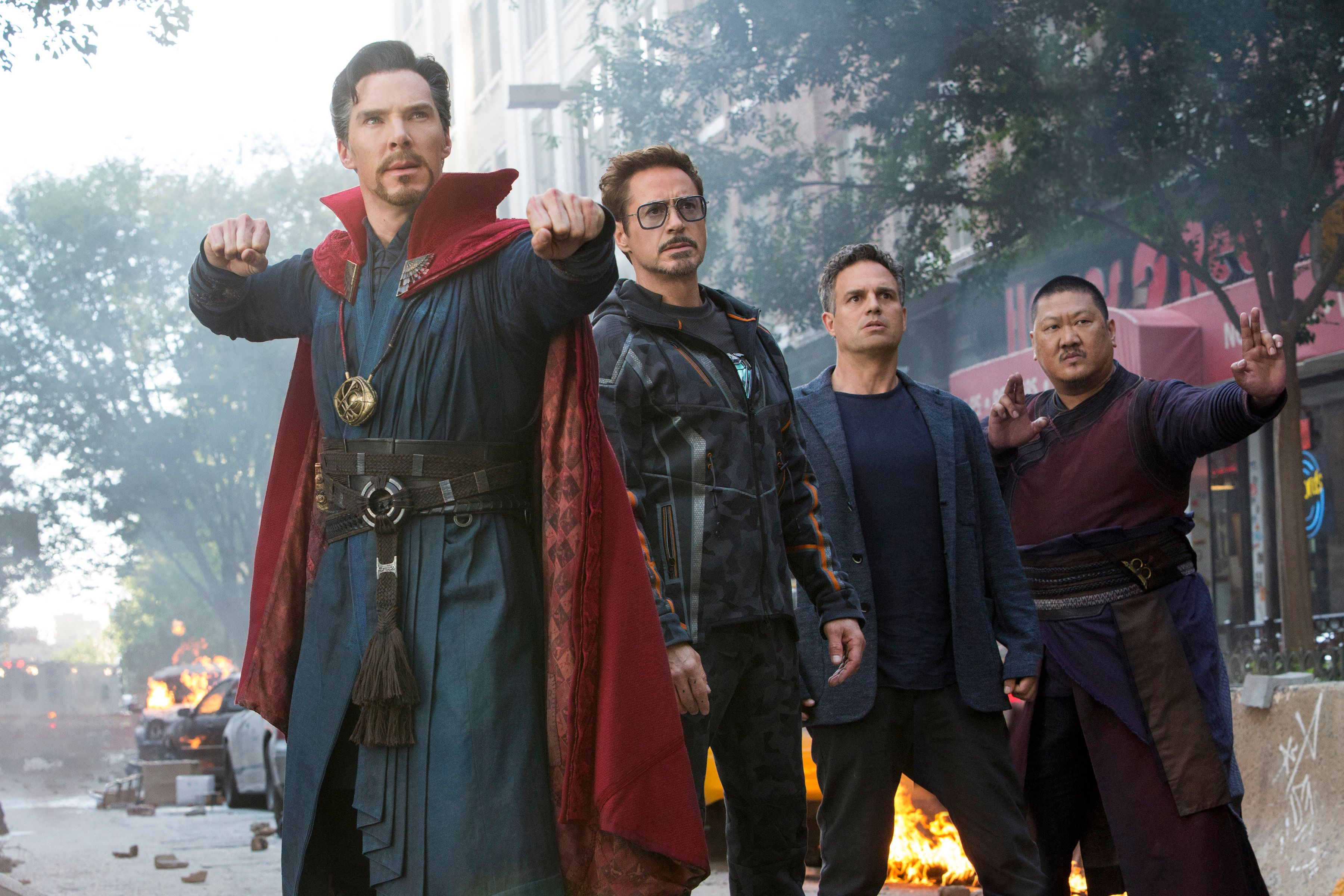 Benedict Cumberbatch, Robert Downey Jr., Mark Ruffalo and Benedict Wong in