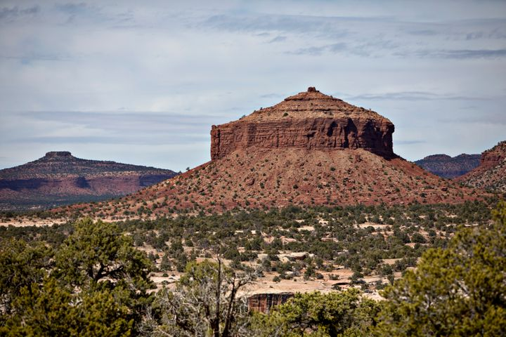 Cheese Box Butte, formerly part of Bears Ears National Monument in Utah.