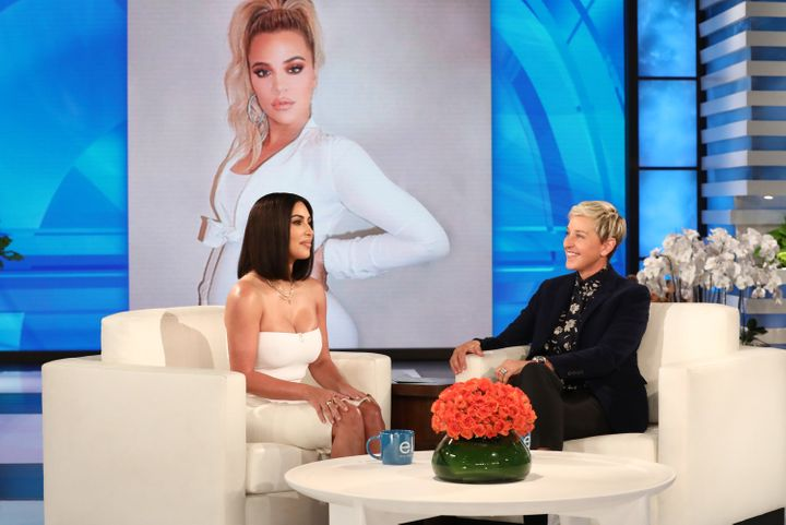 "Kim Kardashian appears on a taping of ""The Ellen DeGeneres Show."""