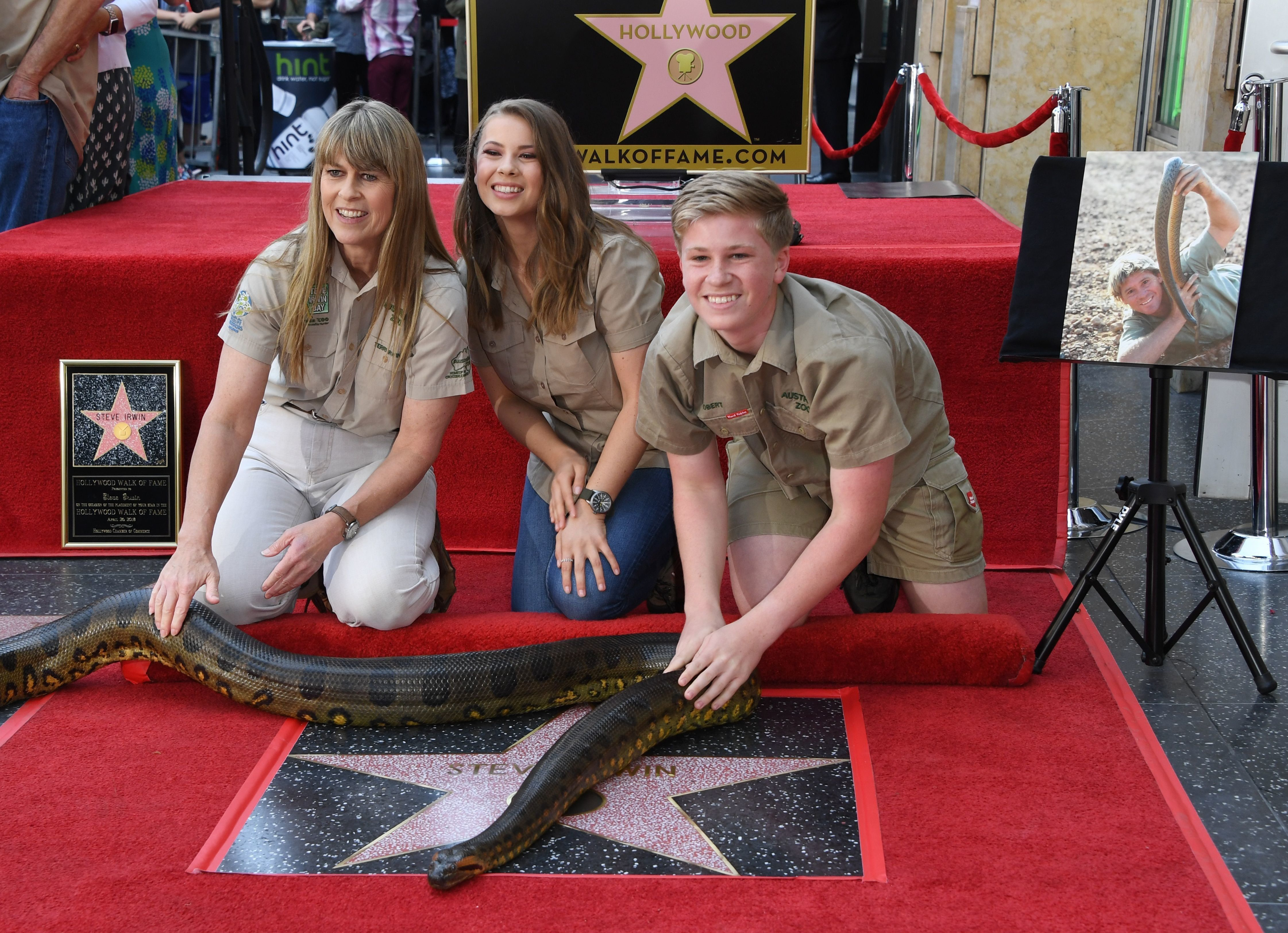 Steve Irwin Honoured With Star On Hollywood Walk Of Fame