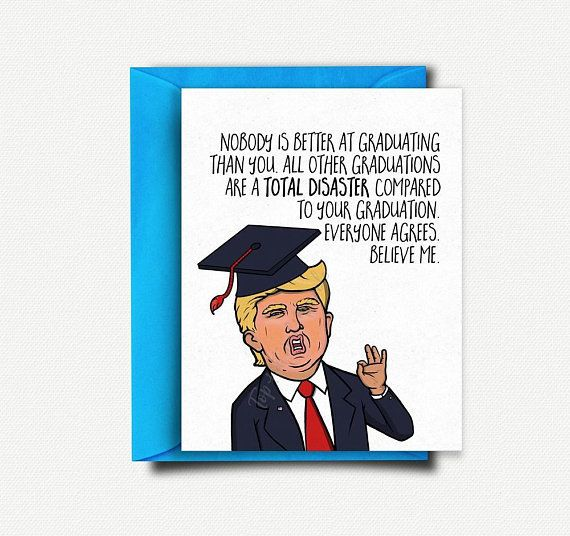 photo regarding Donald Trump Birthday Card Printable known as 20 Amusing Commencement Playing cards In direction of Continue to keep Elements Lighthearted