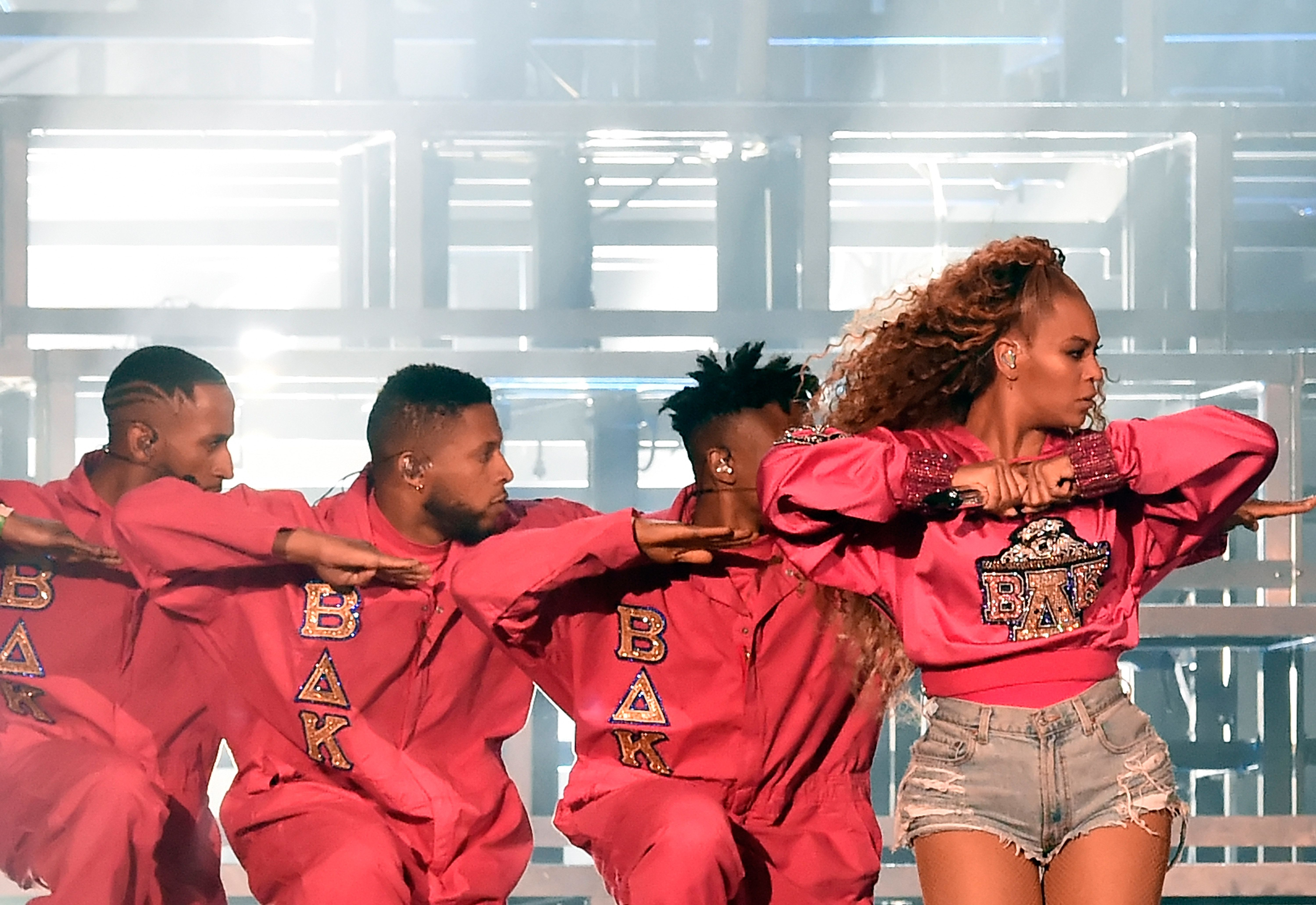 Beyoncé performs for a second time with her dancers at the Coachella Valley Music and Arts Festival on April 21.