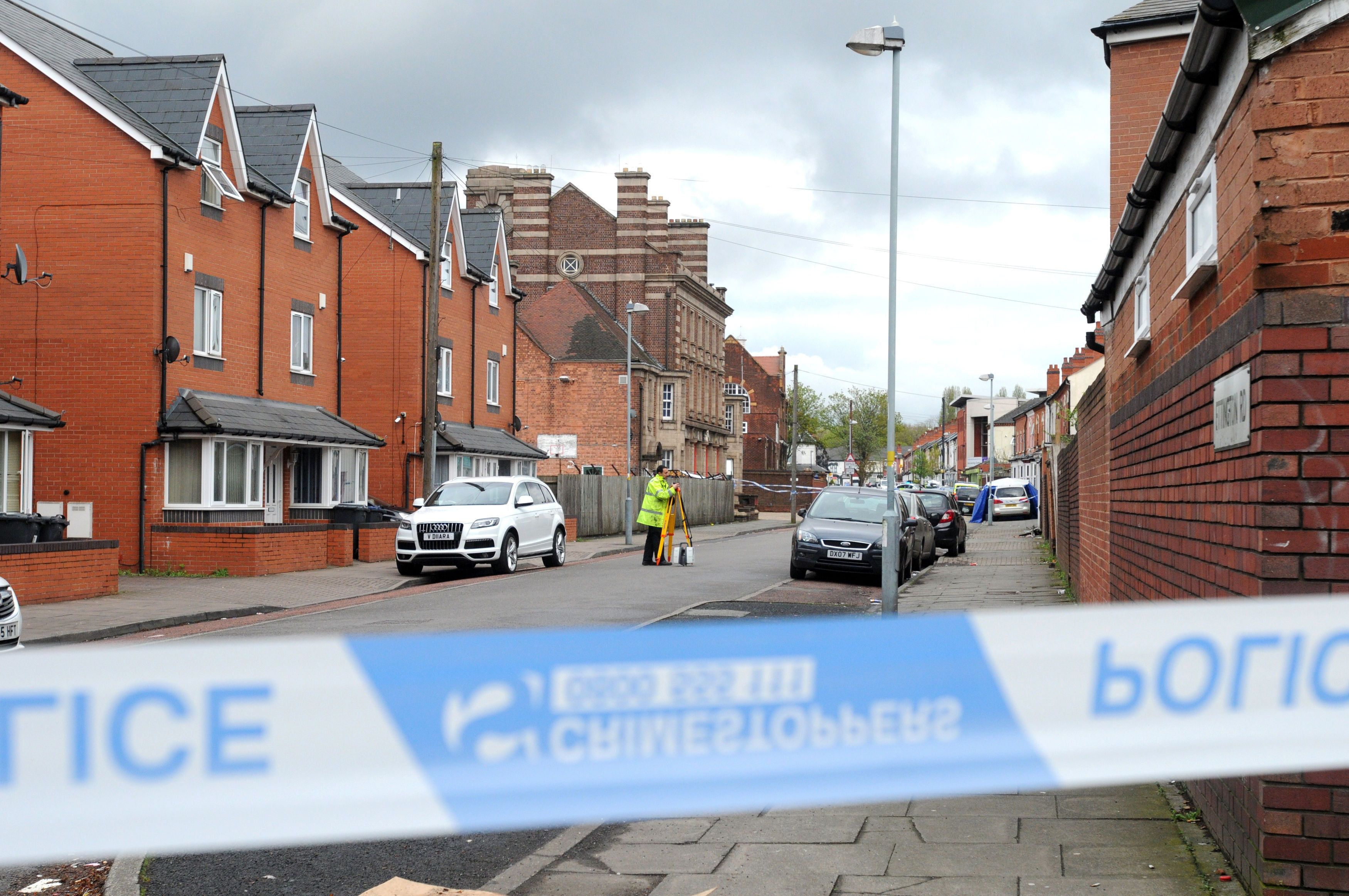 Ettington Road in Aston, Birmingham where Friday's incident took place.