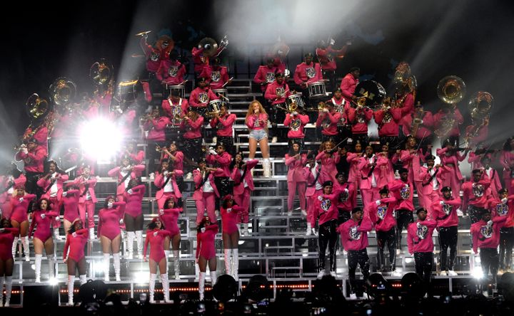 Glanville was among more than 100 dancers who performed alongside Queen Bey.