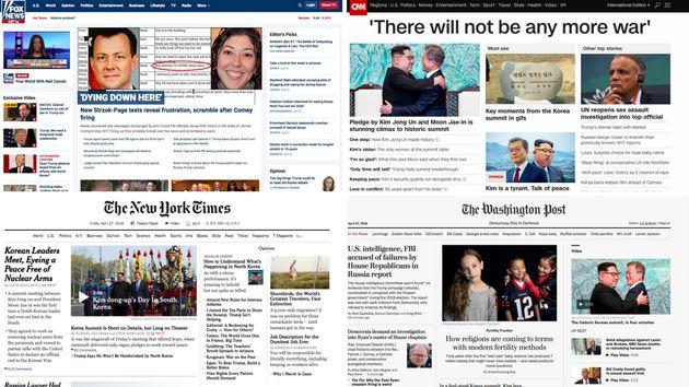 Vier der wichtigsten Nachrichtenseiten der USA – sie kommen am Freitag ohne Merkel