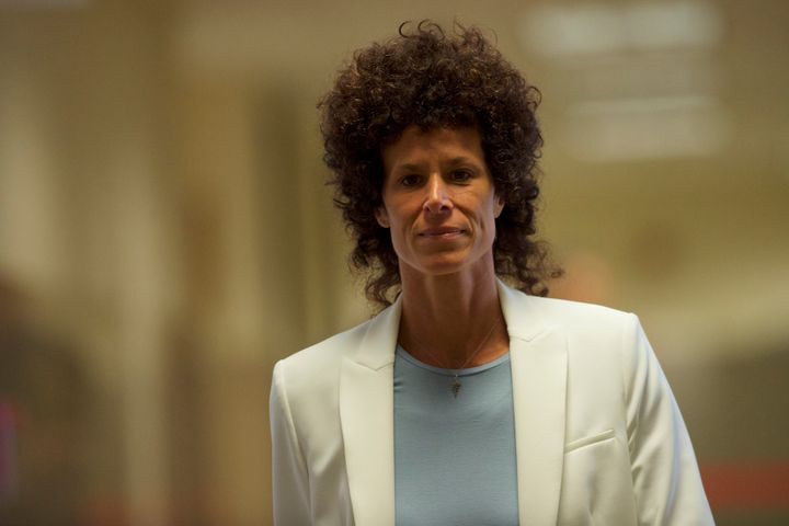 Andrea Constand at the courthouse in June 2017. Cosby's legal team portrayed her as being out for his money.