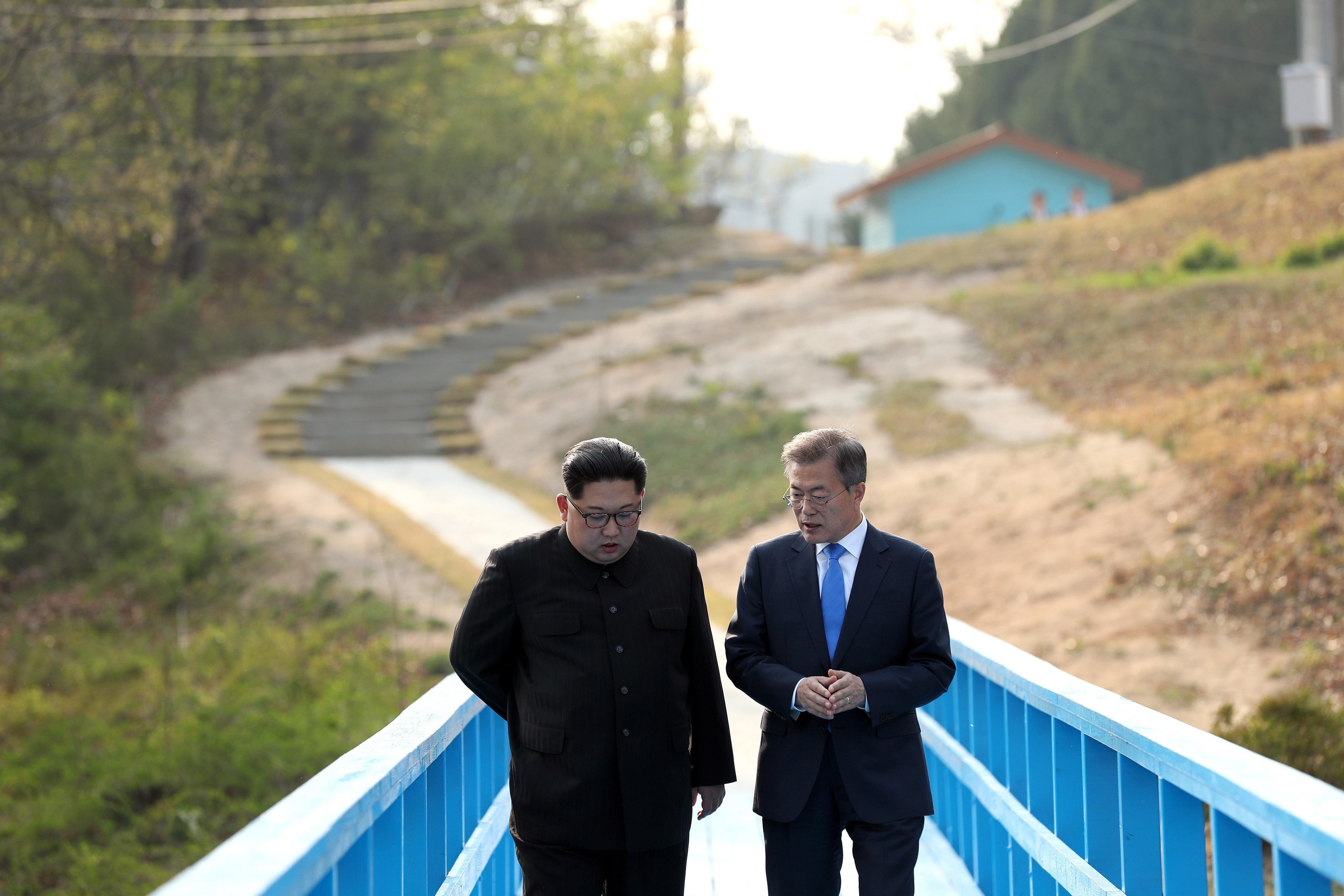 北 조선중앙통신이 '판문점 선언'에 대해 보도한
