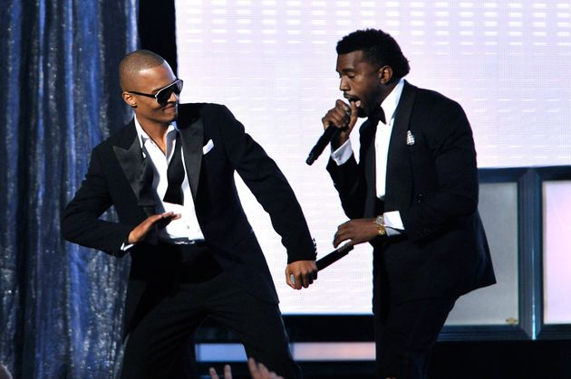 T.I. and Kanye performing together at the Grammys in