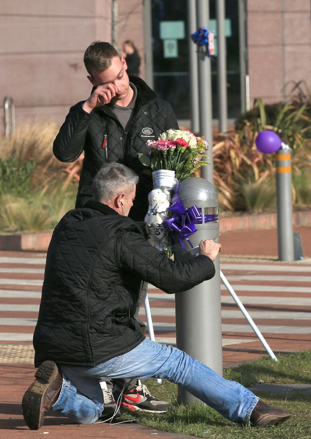 Supporters began to leave floral tributes outside the hospital on Saturday morning. Balloons, toys and...