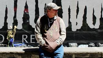 Tommy Davis visits the granite memorial to victims of the Upper Big Branch mining disaster in West Virginia He lost his son Cory Davis his brother Timmy Davis and his nephew Joshua Napper in the explosion