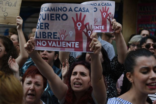 Droves of protesters in Madrid called for justice after a court inPamplona, Spain, convicted men...