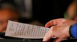 Was Merkels Trump-Spickzettel über sie – und über Trump – verrät