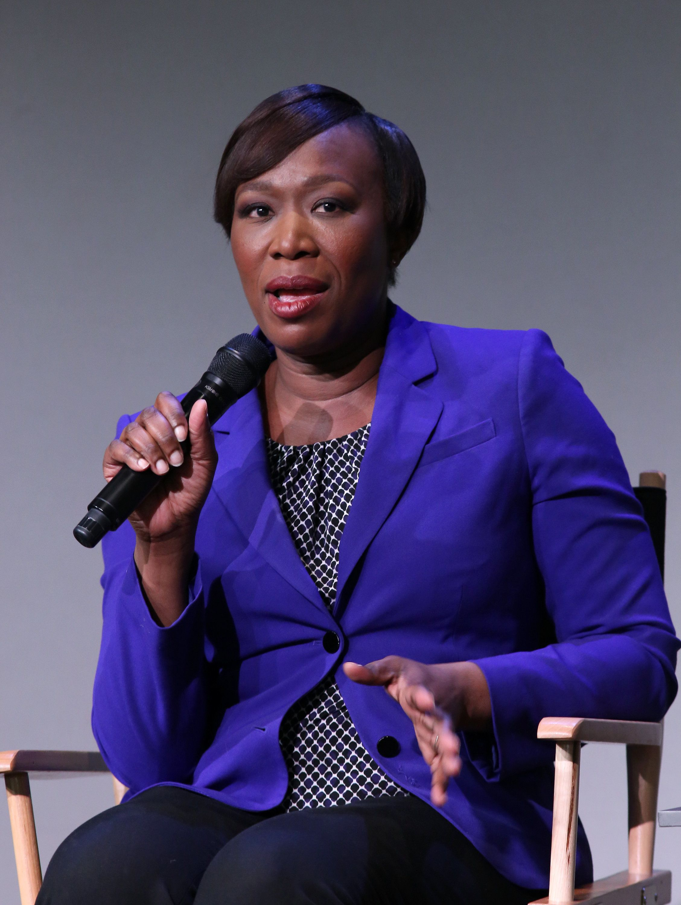 NEW YORK, NY - FEBRUARY 09:  TV personality Joy Reid attends The Apple Store Soho Presents Meet The Creator at Apple Store Soho on February 9, 2015 in New York City.  (Photo by Bennett Raglin/WireImage)