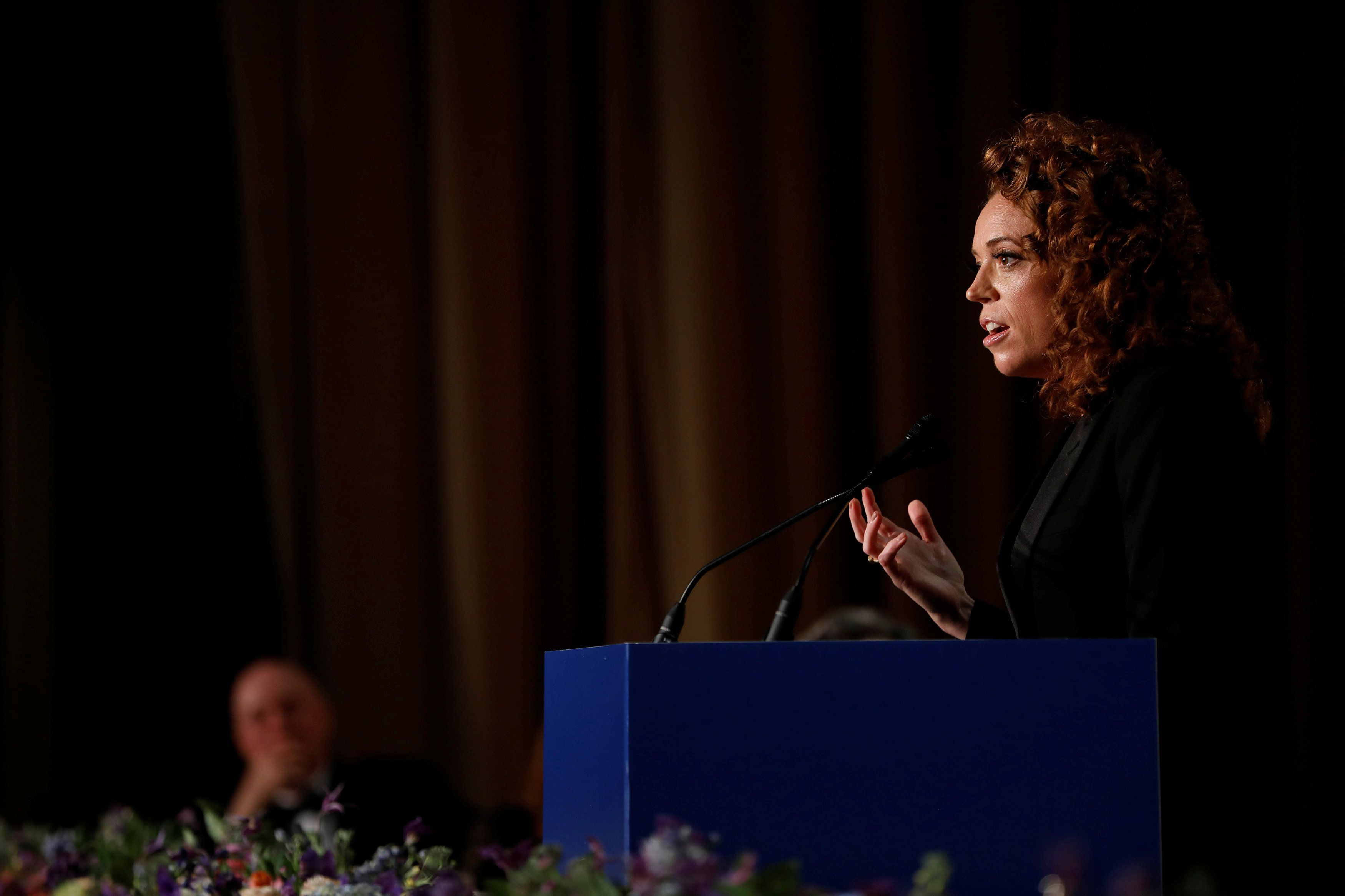 Comedian Michelle Wolf performs at the White House Correspondents' Association dinner in Washington, U.S., April 28, 2018. REUTERS/Aaron P. Bernstein