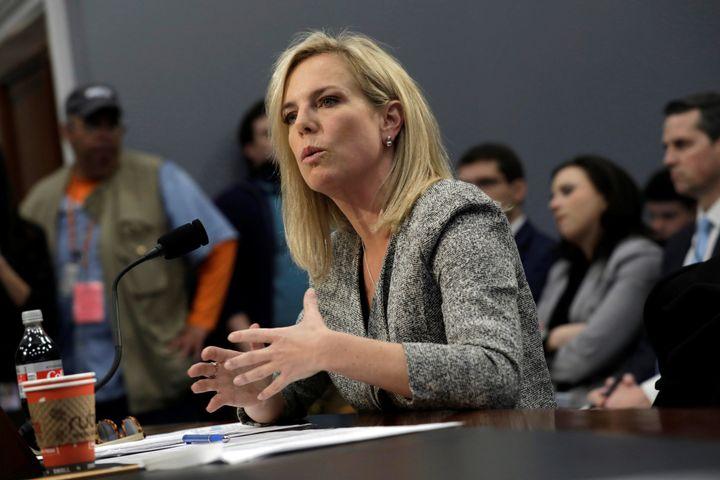 Homeland Security Secretary Kirstjen Nielsen testifies before a House panelon April 11.